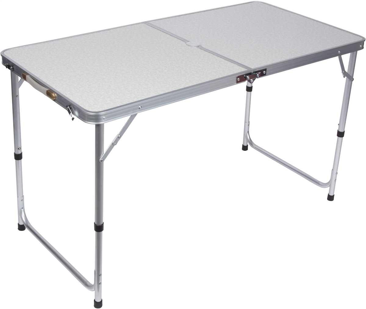 Beau Lightweight Adjustable Portable Folding Aluminum Camp Table With Carry  Handle By Trademark Innovations