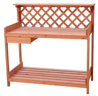Fir Wood Garden Potting Table By Trademark Innovations