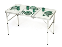Portable Adjustable Lightweight  Aluminum Folding Table by Trademark Innovations