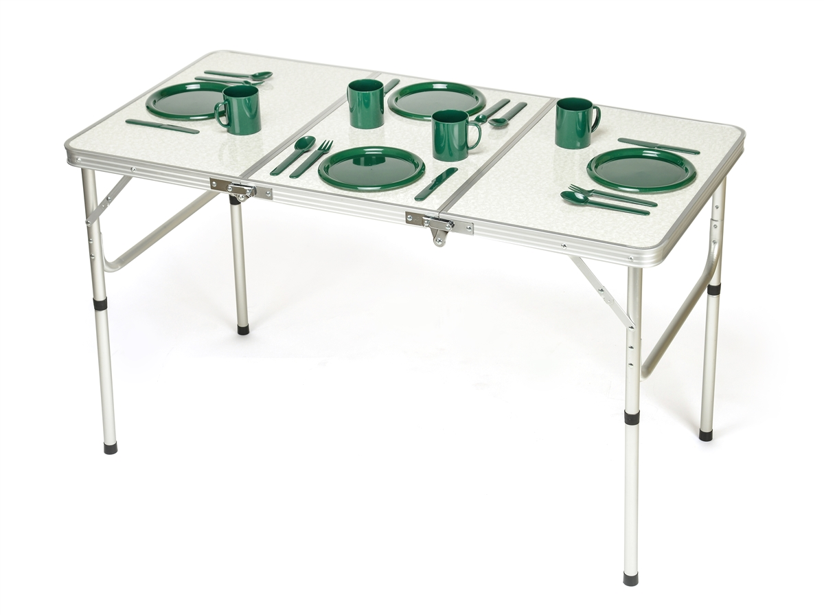 Beau Portable Adjustable Lightweight Aluminum Folding Table By Trademark  Innovations
