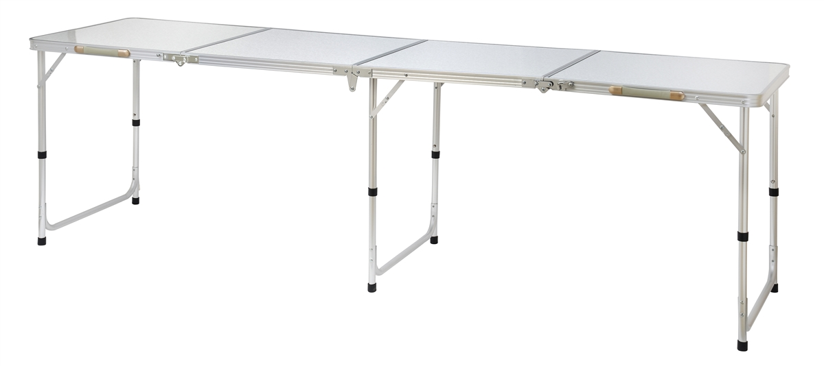 Superbe Portable Adjustable Lightweight Quad Size Aluminum Folding Table By  Trademark Innovations