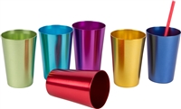 Retro Aluminum Tumblers Assorted Colors By Trademark Innovations (6, 16 oz.)
