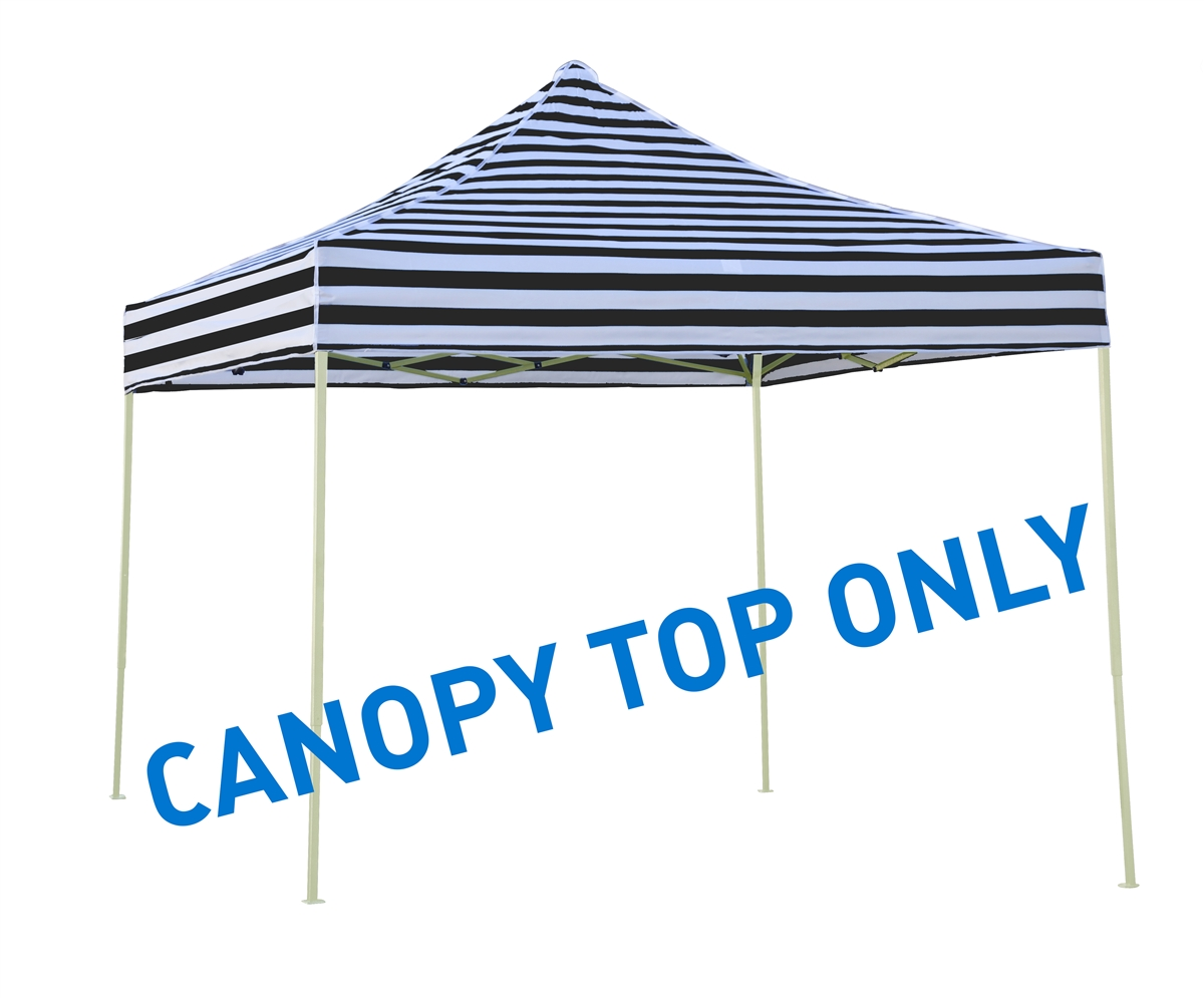 10u0027 x 10u0027 Square Replacement Canopy Gazebo Top Assorted Colors By Trademark Innovations (Black Stripe)  sc 1 st  Trademark Innovations & x 10u0027 Square Replacement Canopy Gazebo Top Assorted Colors By ...