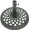 Cast Iron Umbrella Base 17.7 Inch Diameter by Trademark Innovations (Green)