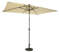 10' x 6.5' Rectangular Solar Powered LED Lighted Patio Umbrella by Trademark Innovations (Beige)