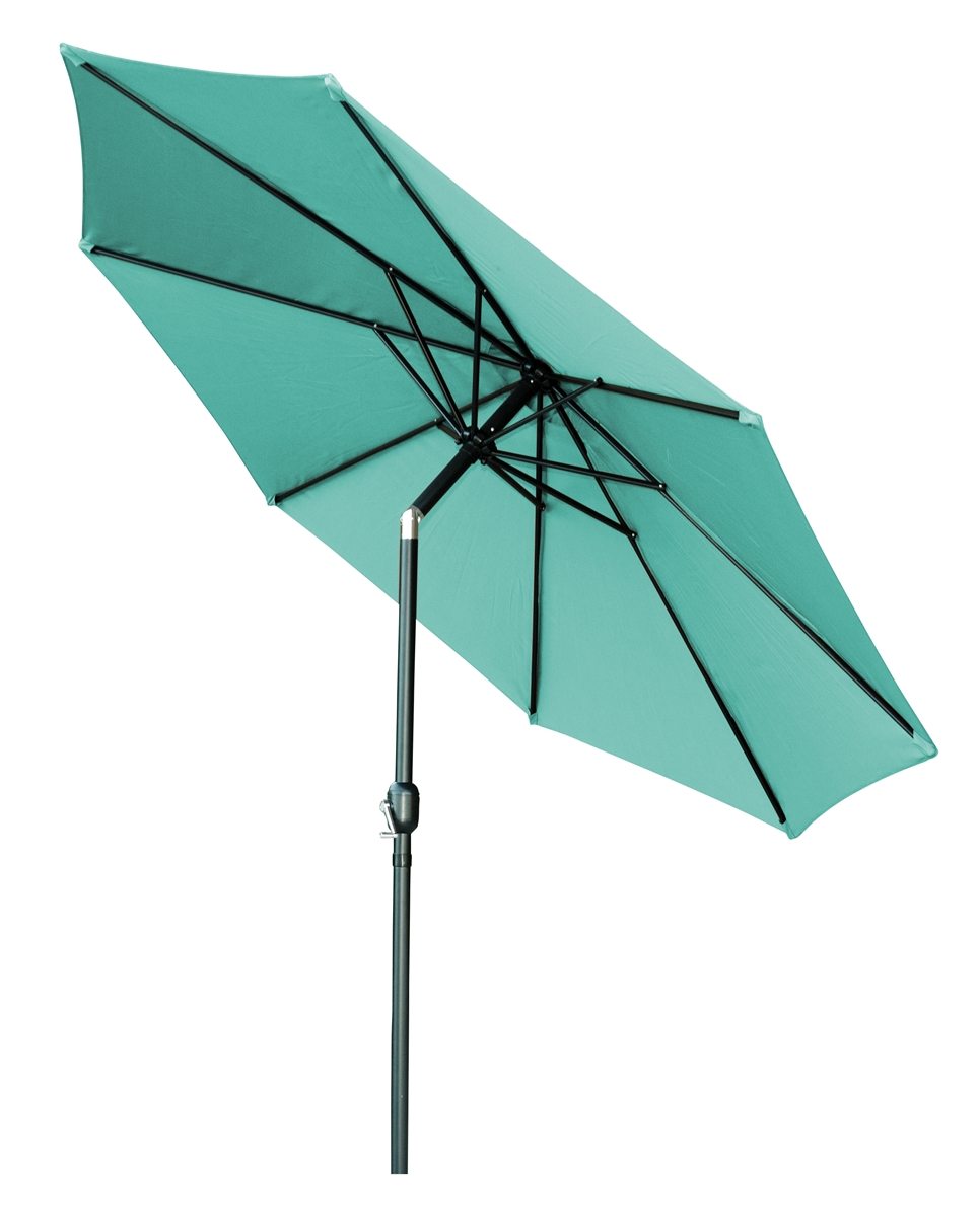 10 Tilt With Crank Patio Umbrella By Trademark Innovations Teal
