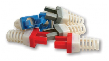 Color Strain Reliefs for EZ-RJ45 Cat 6+ Connector