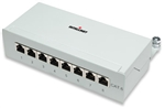 Cat6 Surface Mount Box 8-Port, FTP, Grey