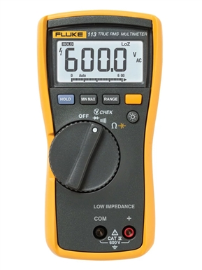 Fluke 113 True RMS Utility Multimeter with Display Backlight
