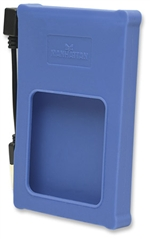 "Drive Enclosure Hi-Speed USB 2.0, SATA, 2.5"""", Blue"