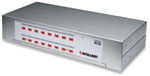 16-Port Rackmount KVM Switch PS/2, with On-Screen Display, metal housing