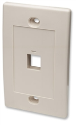 Wall Plate Flush Mount, 1 Outlet, Ivory