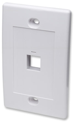 Wall Plate Flush Mount, 1 Outlet, White