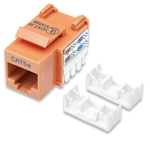 Cat5e Keystone Jacks UTP, Orange, Punch-down