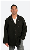 Traditional Lab Coat, Nylostat fabric, hip-length jacket, Black, 3pockets