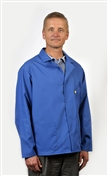 Traditional Lab Coat, Nylostat fabric, hip-length jacket, Royal Blue, 3pockets