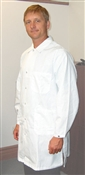 Traditional Lab Coat, Nylostat fabric, knee-length coat, White, 3pockets