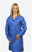 Traditional Lab Coat, Nylostat fabric, knee-length coat, Royal Blue, 3pockets