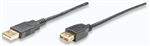 Hi-Speed USB Extension Cable A Male / A Female, 1.8 m (6 ft.), Black