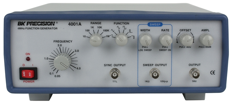 4001a B Amp K Precision 4mhz Sweep Function Generator With Dial