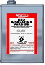 Red Insulating Varnish, 3.78 litres (1 gallon) liquid