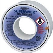 "444 Superwick - #4 Blue, Fine Braid, 2.5mm/0.100"" Fine Braid 7.6M (25 ft)"