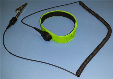 Adjustable Thermoplastic Wrist Straps.  Lime.