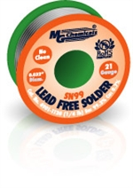 "Sn99 LF, NC,  0.032"", 21 Gauge, 99.3% tin and 0.7% copper, 1/4 lb (113 g) Spool, Lead-Free Solder Wire"