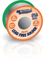 "Sn99 LF, NC,  0.032"", 21 Gauge, 99.3% tin and 0.7% copper, 1/2 lb (227 g) Spool, Lead-Free Solder Wire"