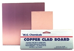 "Copper Clad Boards Plain (1oz copper), Single Sided, 1/16"", 8""x10"""