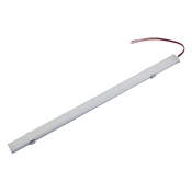 LED LIGHT BAR 24.1 INCH (612 MM) LENGTH White (6000K) 12VDC 72 WHITE 2835 LEDS GRAY ALUMINUM HOUSING FROSTED LENS