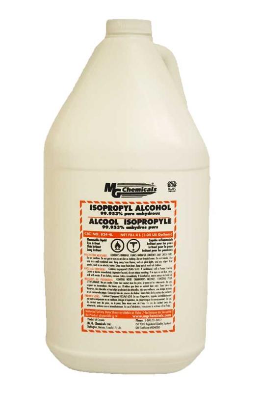 Isopropyl Alcohol (liquid), 4 litres (1 gallon)