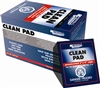 "CLEAN PAD PRESATURATED WIPE, 91% IPA, 3"" x 4"" WIPE"
