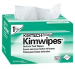 "Kimwipes Delicate Task Wipers - Single Ply, 196 wipes (11.8""x11.8"") Pop-up box"