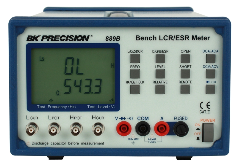 889b b\u0026k precision bench lcr esr meter with component tester