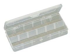 Plastic Box w/dividers 260 x 115 x 43.5 mm