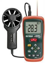 CFM/CMM Mini Thermo-Anemometer with built-in InfaRed Thermometer