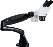 MICROSCOPE DM-DUAL MAG 10X/20X WITH 0.5X LENS ON PNEUFLEX-ARM (NO LIGHT)