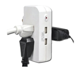 EMF-3 Three Outlet Surge Protector with 2 USB Chargers