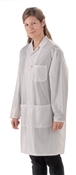 Traditional Lab Coat, OFX-100 fabric, knee-length coat, White, 3pockets