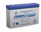 Battery 6 Volt 7 AH Terminal F1 Rechargeable Sealed Lead Acid