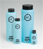 2oz Round Bottle with lid, Static Safe Dissipative Bottles
