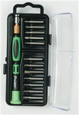 12-in-1 Screwdriver Set..Precision Handle 12 bits - Flat/Phillips and Star Tip