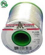 "AIM Solder SAC305 .025"" 3% Water Soluble WS482 Flux, Wire Solder 1 lb Spool"