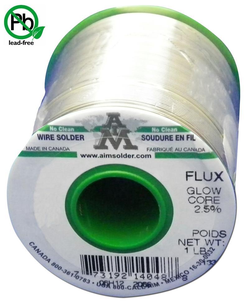 Sodr14099 Aim Solder Sac305 015 Quot 2 5 No Clean Glow Core