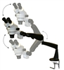 MICROSCOPE Z4 ZOOM BINOC 3.5X-45X WITH 0.5X LENS ON PNEUFLEX-ARM (NO LIGHT)