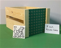 "LUNA music Hand-Built 7"" single (45s) Wood Crate"