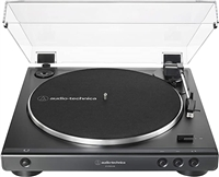 Audio Technica AT-LP60-BK Fully Automatic Belt-Drive Stereo Turntable (Analog & USB) 33/45 RPM Speeds with Phono Preamp Includes Dust Cover and Dual Magnet Phono Cartridge (Black)