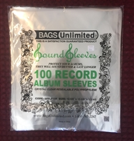 Bags Unlimited 12 Inch Record Jacket Sleeve with Resealable Flap - 12 5/8 X 12 5/8 Inches - 1.5 Mil Polypropylene Snug Fit - 100 Count