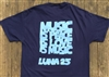 LUNA music 25th Anniversary Short Sleeve Pocket T-Shirt